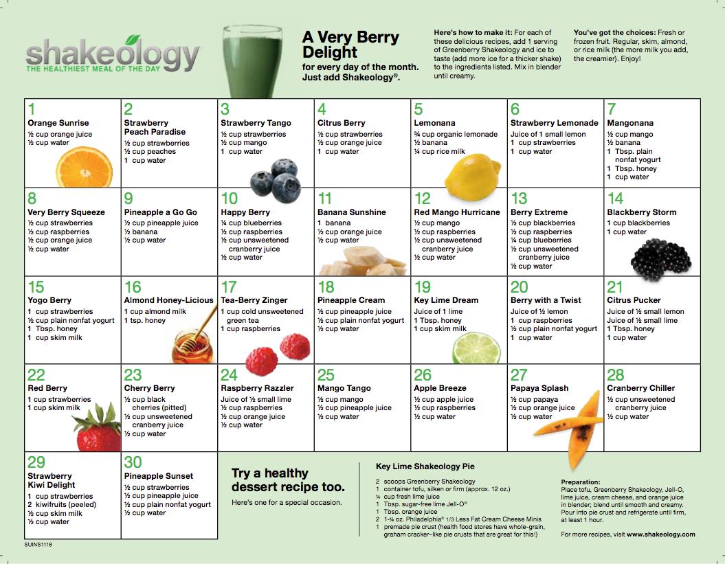 Shakeology Recipes   RIPPEDCLUB