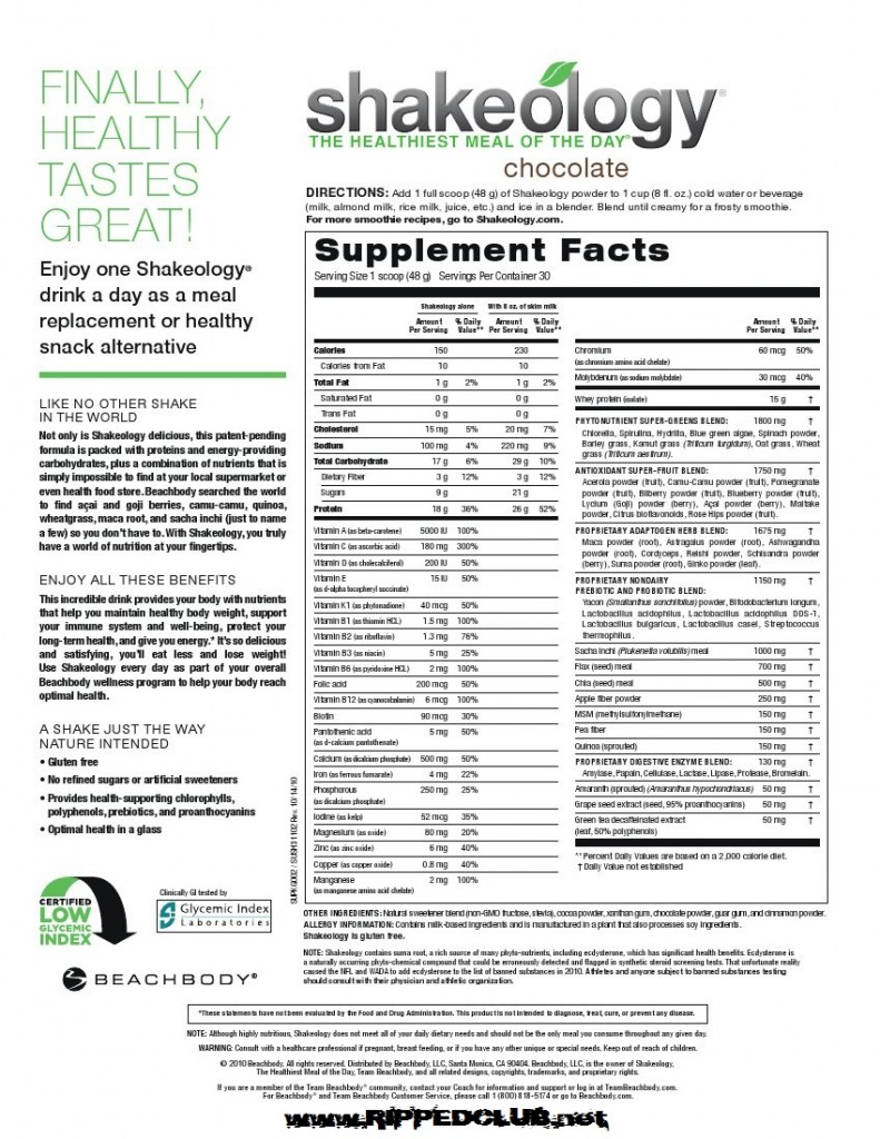 shakeology ingredients - what the heck is in this stuff???   rippedclub