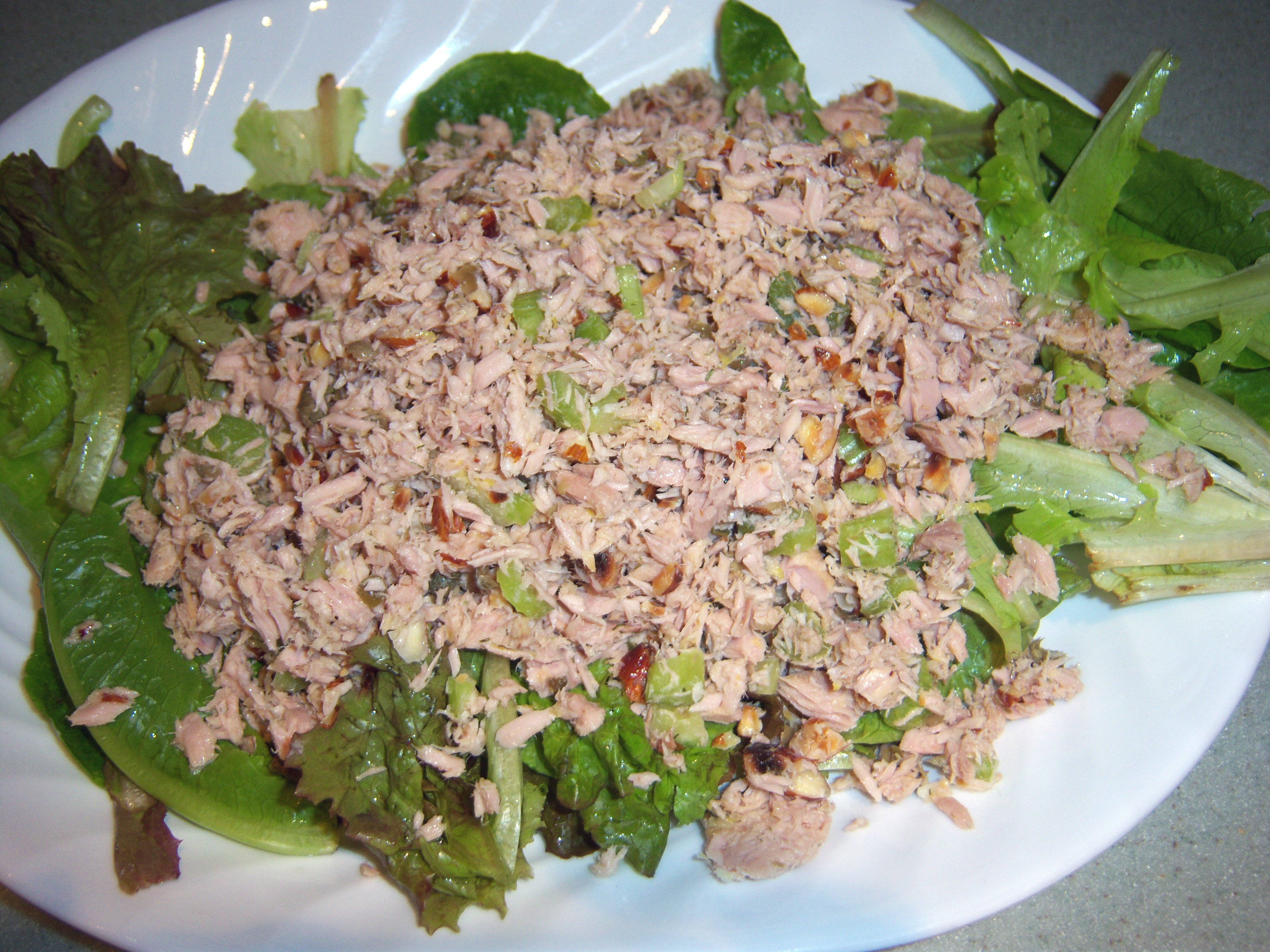 How to make p90x fat shredder foods taste better rippedclub for Tuna fish salad calories