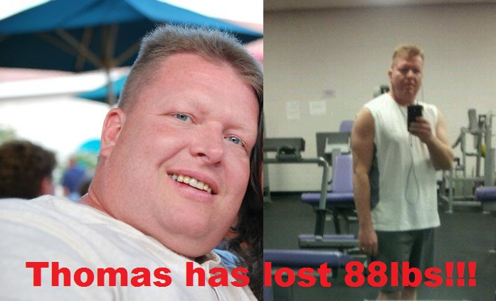 thomas irons 88lbs lighter!