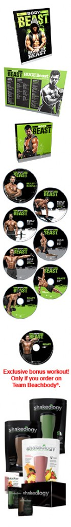 Body Beast Challenge Pack With Shakeology