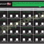 Focus T25 Gamma Phase Calendar