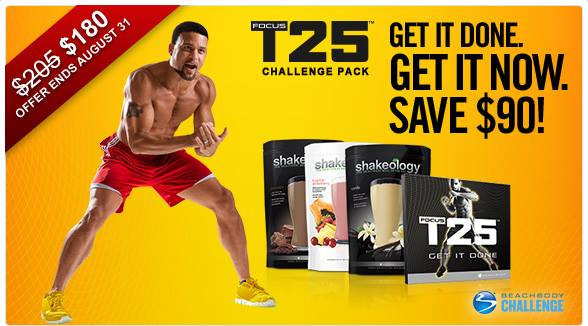 focus t25 august challenge pack discount