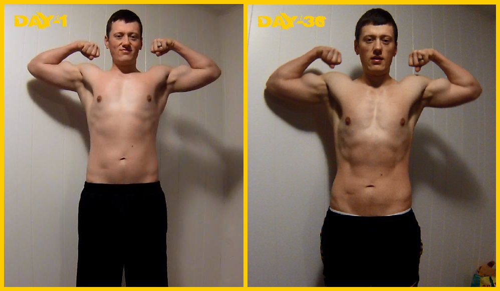 P90X3 BLOCK-1 Results FRONT FLEX