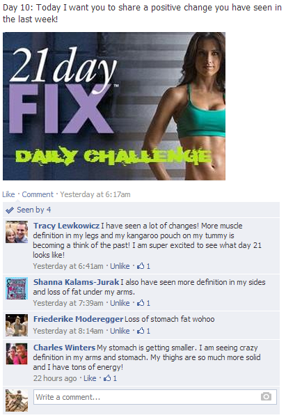 21 day fix challenge group results