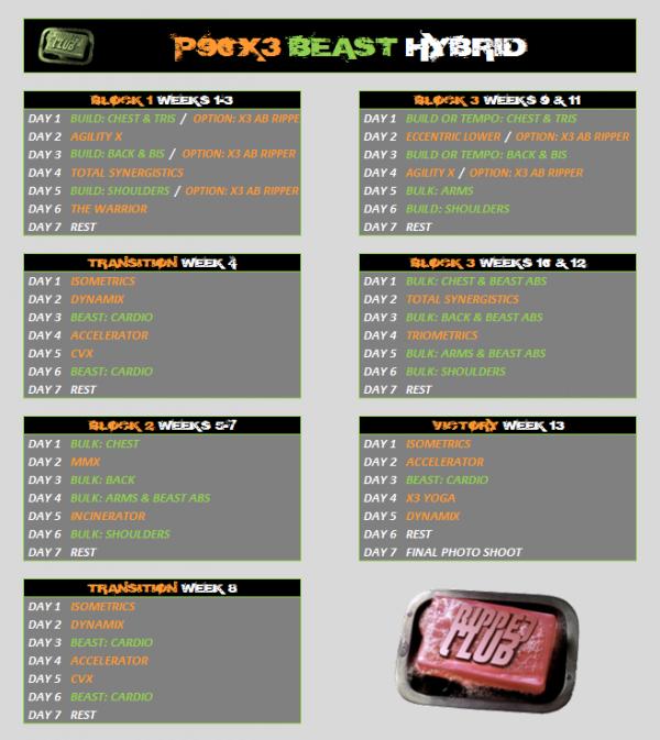 P90X3-Body Beast Hybrid | BEAST90X3 is HERE! | RIPPEDCLUB