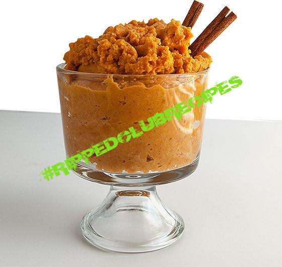 pumpkin protein custard
