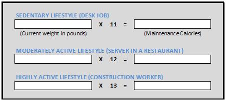 p90 calorie calculation