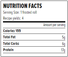 nutrition facts protein pumpkin rolls