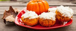Frosted Protein Pumpkin Rolls
