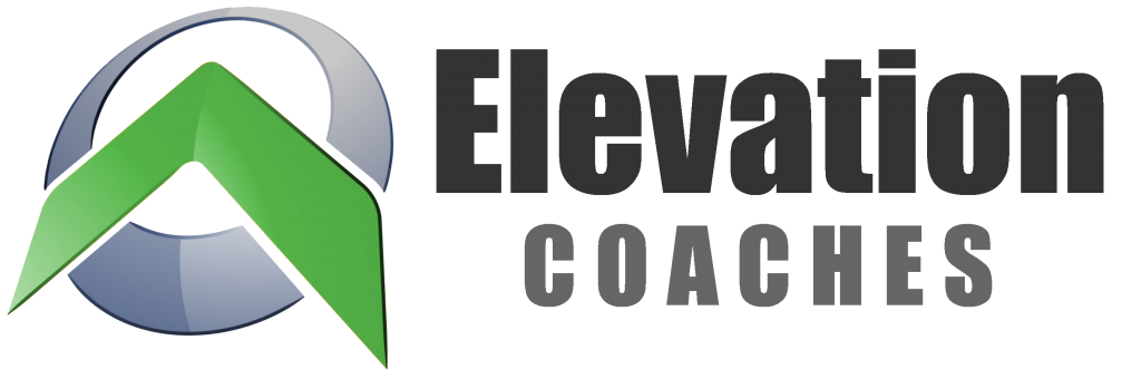 Elevation Logo Rotated Green With Text