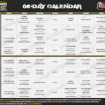 Hammer & Chisel Workout Schedule